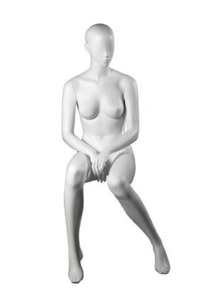 location mannequin femme assise taille fine pour prêt-à-porter Marseille