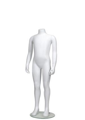 vente mannequin enfant sans tête pour vitrine 8 ans blanc mat Paris