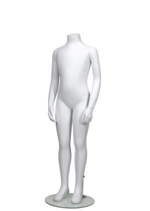 Location mannequin enfant en Fibre de verre sans tête blanc mat Paris
