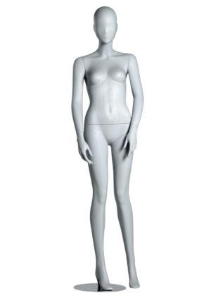 vente mannequin vitrine tête abstraite blanc mat Bordeaux