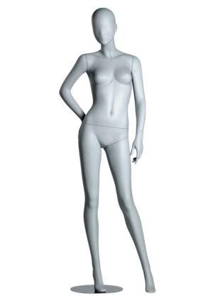 mannequin vitrine femme sexy fibre de verre visage abstrait Paris