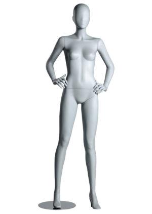 location mannequin de vitrine femme pour showroom tête abstraite Paris