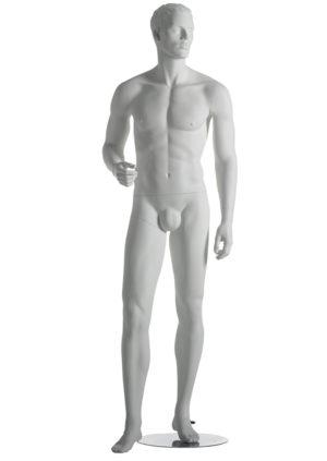 location mannequin homme avec muscles pour vitrine et cheveux sculptés Marseille