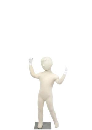 mannequin enfant bras en l'air avec tête Paris