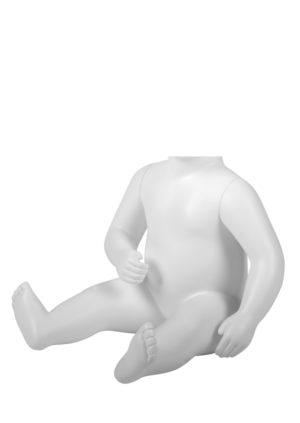 mannequin de vitrine bébé 6 mois sans tête