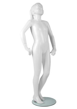 modèle fille 10 ans pour vitrine avec visage sculpté Fibre de verre Marseille