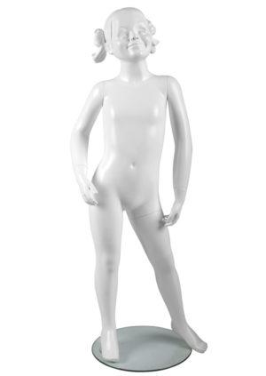 mannequin petite fille 6 ans pour boutique avec cheveux Paris