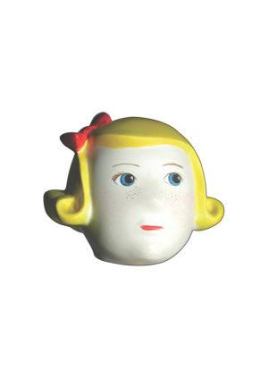 Tête mannequin fille blonde Paris