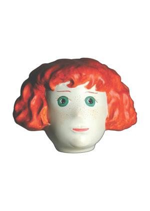 Tête mannequin petite fille rousse pour vitrine Paris