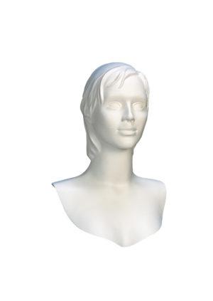 Tête femme blanche cheveux détachés Paris